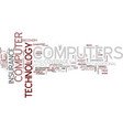 are your computers and technology covered text vector image vector image