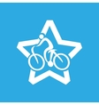 athlete medal cyclist icon graphic vector image vector image