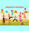 b-day party kids composition vector image