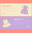 baby clothes dress collection vector image vector image