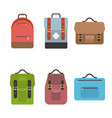 bag icon include briefcase backpack school bag vector image vector image