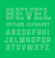 bevel outline alphabet vector image vector image