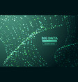 big data concept abstract background network vector image