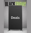 black friday deals announcement realistic vector image vector image