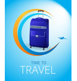 blue travel bag vector image