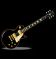 blues guitar vector image vector image