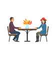 cafe tables and couple relaxing outdoor vector image vector image