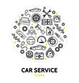 car service round concept vector image vector image