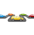 Cars on Road Perspective Transport Background vector image vector image