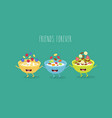 cereal bowls friends vector image vector image