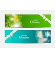 Christmas Snowflakes Website Header and Banner Set vector image vector image