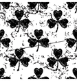 Clover pattern grunge monochrome vector image vector image