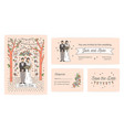collection of save the date card wedding ceremony vector image vector image