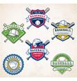 colorful baseball logos vector image vector image