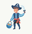 cute boy children pirate vector image vector image