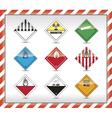 Danger symbols vector image vector image