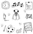 Doodle of school teacher vector image vector image