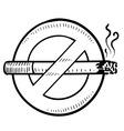 doodle smoking no vector image vector image