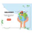 drone delivery website homepage design vector image vector image