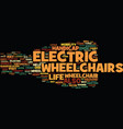 electric wheelchair what about them and how to vector image vector image