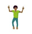 energetic young guy teenager dancing having fun vector image vector image