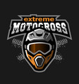 extreme motocross logo vector image vector image