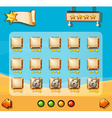 Game template with desert background vector image vector image