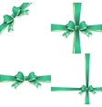 Green gold bow templates EPS 10 vector image vector image