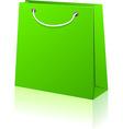 Green shopping bag vector image vector image