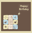 greeting card happy birthday the birth postcard vector image vector image