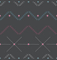 hand drawn abstract seamless pattern geometrical vector image vector image