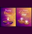 happy diwali festival light vector image