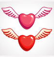 heart with wings valentine s day vector image vector image