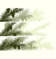 horizontal banner of spruce branch vector image vector image