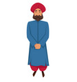 indian man in traditional clothing and turban vector image vector image