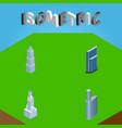 isometric construction set of building cityscape vector image vector image