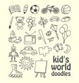 Kids World Doodles vector image vector image