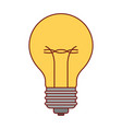 light bulb in colorful silhouette with thin red vector image vector image