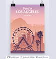 los angeles famous city scape vector image vector image
