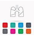 Lungs icon Transplantation organ sign vector image vector image