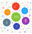 melody icons vector image vector image