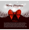 Merry christmas background invitation xmas card vector image vector image