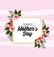 mothers day card with tropical flowers plants vector image vector image