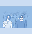 people watching movie concept vector image vector image