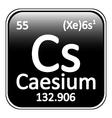 Periodic table element caesium icon
