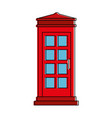 phone booth isolated icon vector image vector image