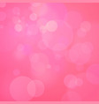 pink background with bokeh vector image vector image