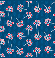 rowan berry seamless pattern on blue vector image vector image