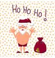 santa with gift bag full of vector image