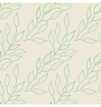 Seamless floral pattern Background with leaves vector image vector image